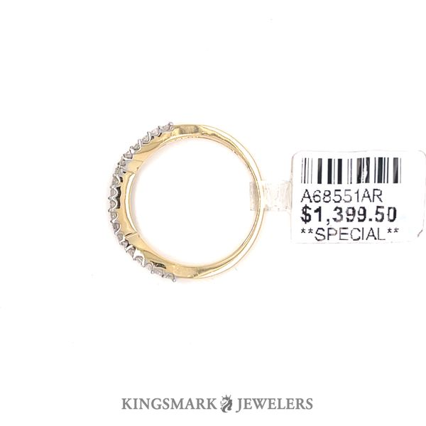 14K Yellow Gold 0.19ct Diamond Band Image 2 Kingsmark Jewelers Jacksonville, FL