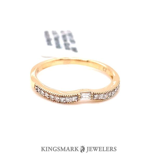 14KT Yellow Gold 0.25CT Diamond Wedding Band Kingsmark Jewelers Jacksonville, FL