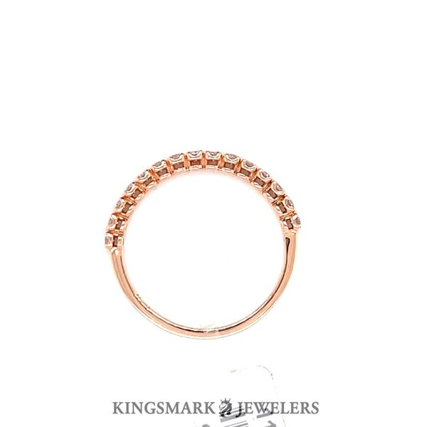 14KT Rose Gold 0.25ct Diamond Band Image 2 Kingsmark Jewelers Jacksonville, FL
