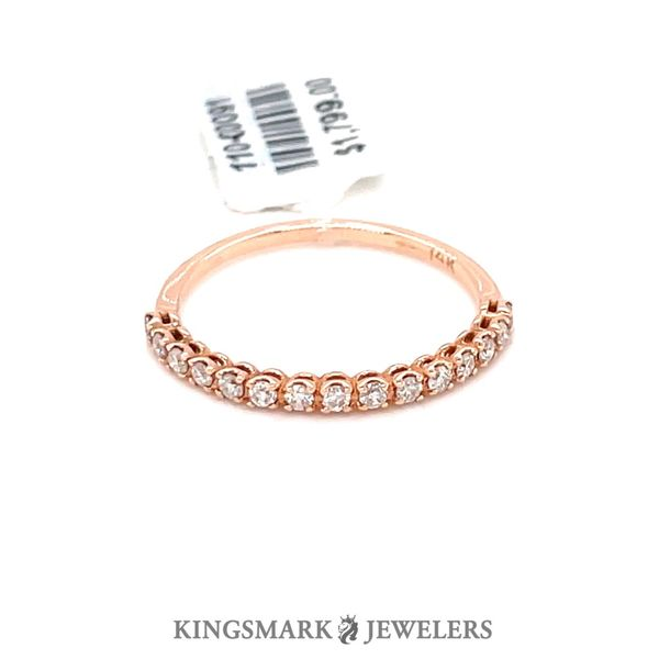 14KT Rose Gold 0.25ct Diamond Band Kingsmark Jewelers Jacksonville, FL