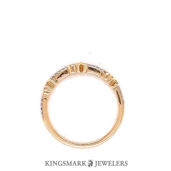 10K Yellow Gold 0.10ct Diamond XO Band SI2, H Image 2 Kingsmark Jewelers Jacksonville, FL