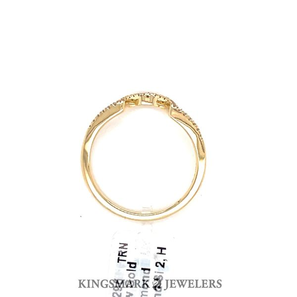 14K Yellow Gold 0.10ct Diamond Curved Band Si 2, H Image 2 Kingsmark Jewelers Jacksonville, FL