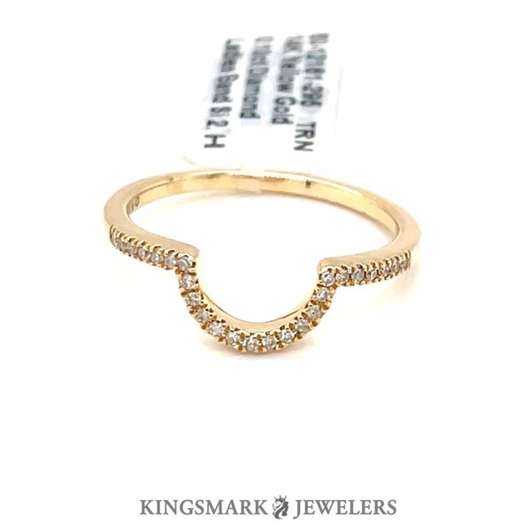 14K Yellow Gold 0.10ct Diamond Curved Band Si 2, H Kingsmark Jewelers Jacksonville, FL