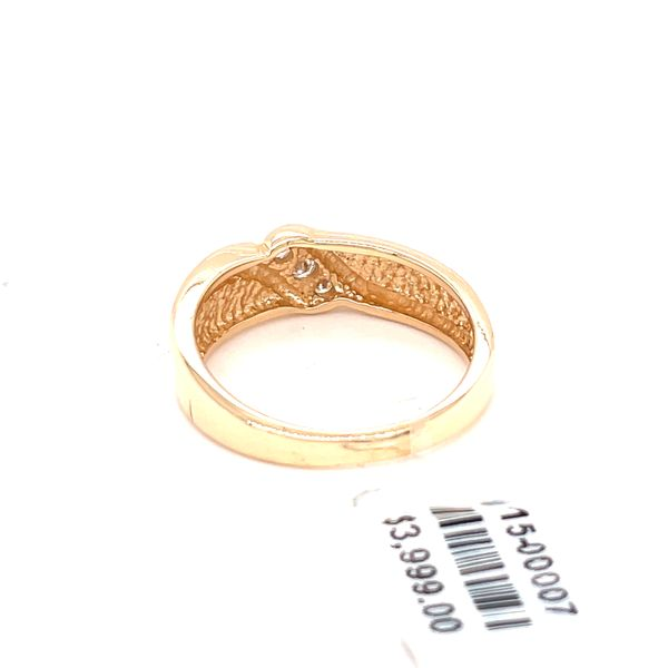 14K Yellow Gold 0.15ct DIA Men's Band Image 2 Kingsmark Jewelers Jacksonville, FL