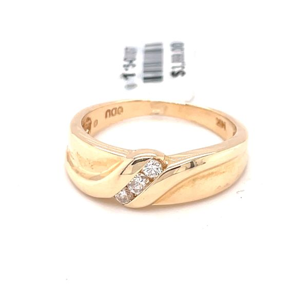14K Yellow Gold 0.15ct DIA Men's Band Kingsmark Jewelers Jacksonville, FL