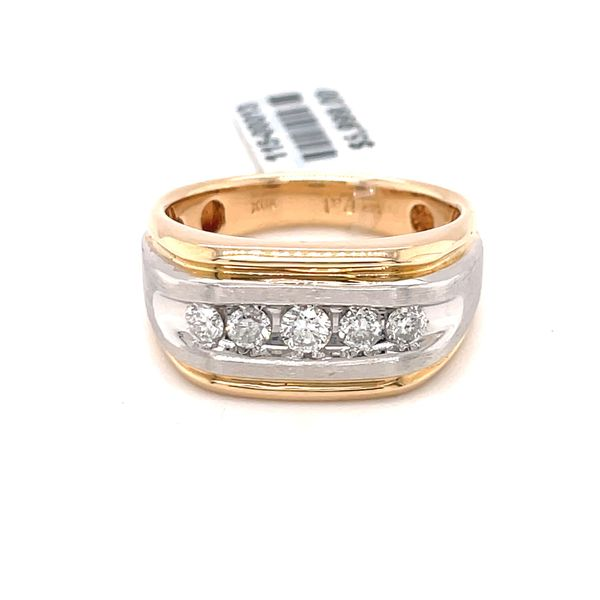 14K Y+W Gold 2-Tone 0.50ct DIA Men's Band SI, G Kingsmark Jewelers Jacksonville, FL