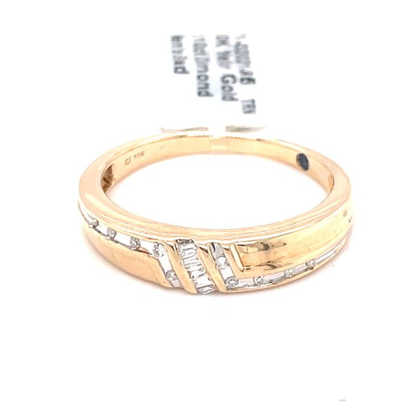 10K Yellow Gold 0.10ct Diamond Men's Band Kingsmark Jewelers Jacksonville, FL