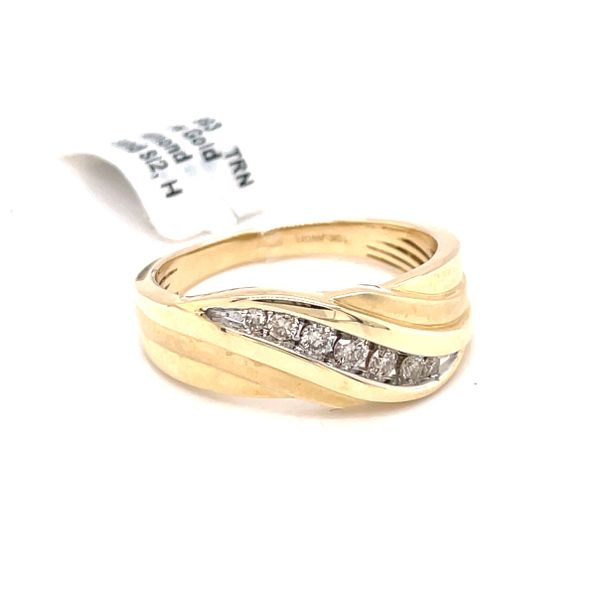 10K Yellow Gold 0.35ct Diamond Men's Band Si2, H Kingsmark Jewelers Jacksonville, FL