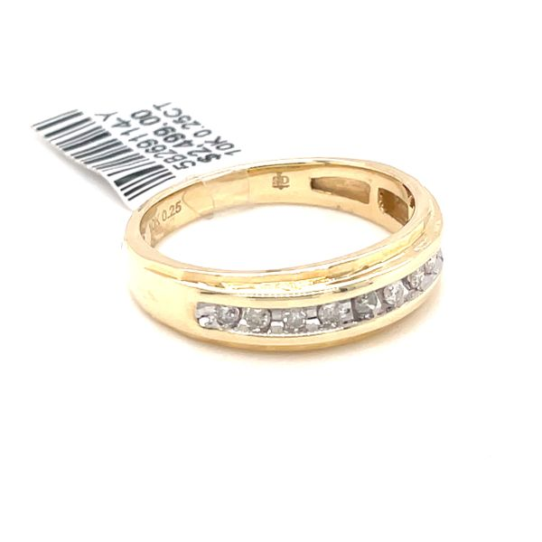 10K Yellow Gold 0.25ct Diamond Men's Band Image 2 Kingsmark Jewelers Jacksonville, FL