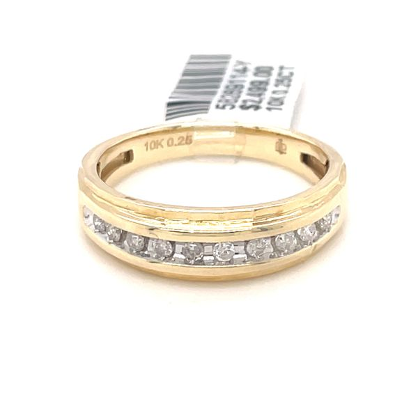 10K Yellow Gold 0.25ct Diamond Men's Band Kingsmark Jewelers Jacksonville, FL