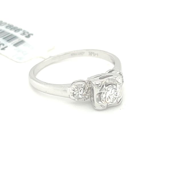 14K W.Gold 0.35ct Diamond Ring CTR 0.25ct Si1,G Image 2 Kingsmark Jewelers Jacksonville, FL