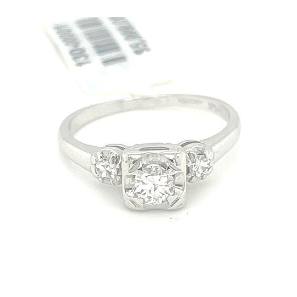 14K W.Gold 0.35ct Diamond Ring CTR 0.25ct Si1,G Kingsmark Jewelers Jacksonville, FL