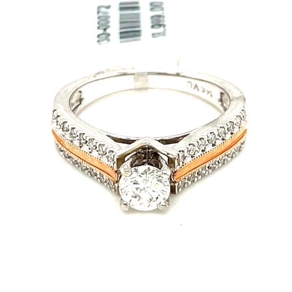 14K W+R Gold 1.00ct Diamond Ring CTR 0.75ct SI1, GH Image 5 Kingsmark Jewelers Jacksonville, FL