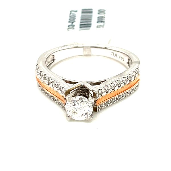 14K W+R Gold 1.00ct Diamond Ring CTR 0.75ct SI1, GH Kingsmark Jewelers Jacksonville, FL