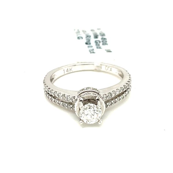 14K White Gold 1.00ct Diamond Ring 0.75ct CTR SI2,G Image 2 Kingsmark Jewelers Jacksonville, FL