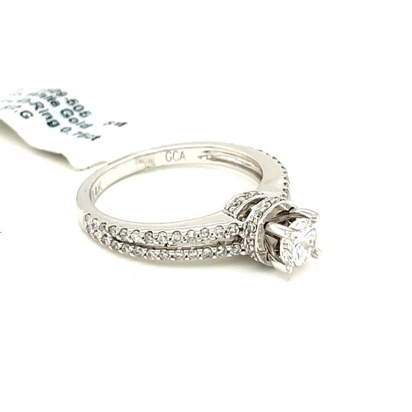 14K White Gold 1.00ct Diamond Ring 0.75ct CTR SI2,G Image 3 Kingsmark Jewelers Jacksonville, FL