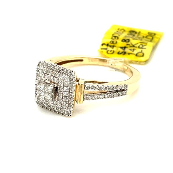 14K Yellow Gold 0.52ct Diamond Ring Si2,  G Image 2 Kingsmark Jewelers Jacksonville, FL