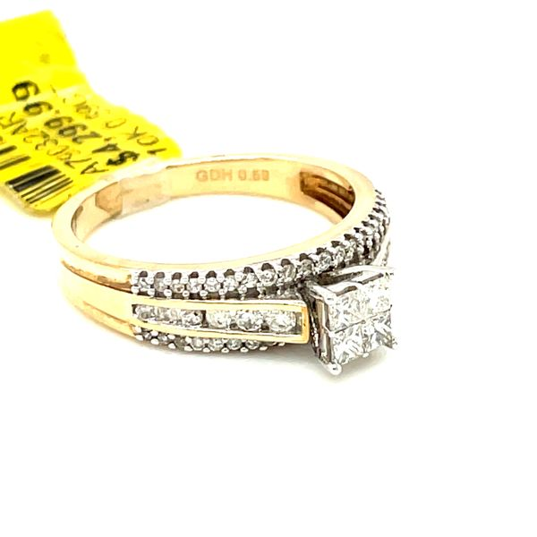 10K Yellow Gold Princess Cut 0.59ct Diamond Ring Si G Image 2 Kingsmark Jewelers Jacksonville, FL