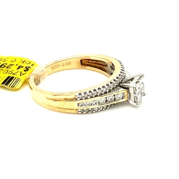 10K Yellow Gold Princess Cut 0.59ct Diamond Ring Si G Image 3 Kingsmark Jewelers Jacksonville, FL