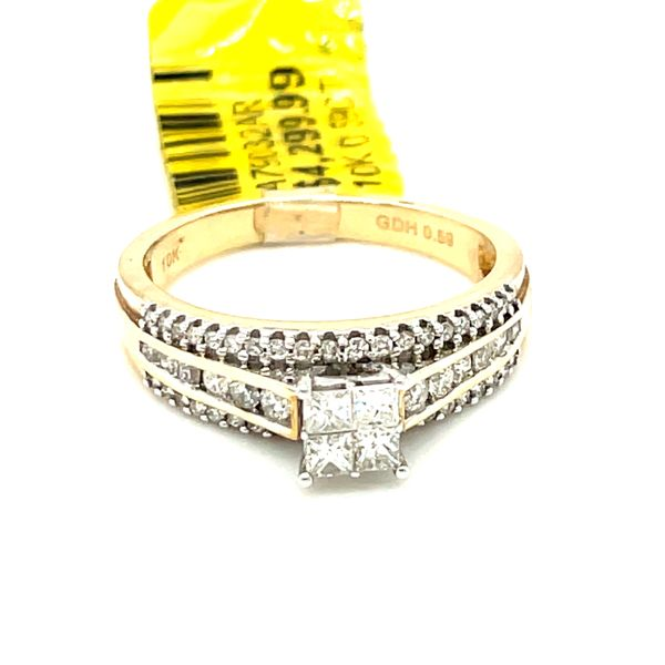 10K Yellow Gold Princess Cut 0.59ct Diamond Ring Si G Kingsmark Jewelers Jacksonville, FL