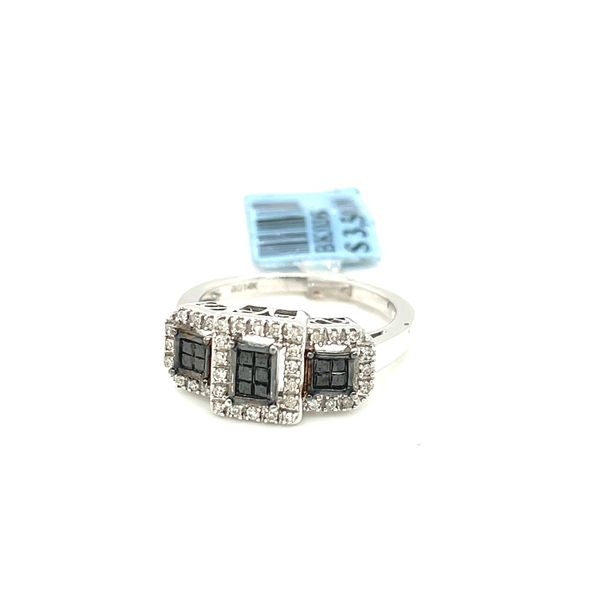 14K White Gold 0.50ct Diamond Ring with Black Diamonds Si2 G Image 2 Kingsmark Jewelers Jacksonville, FL