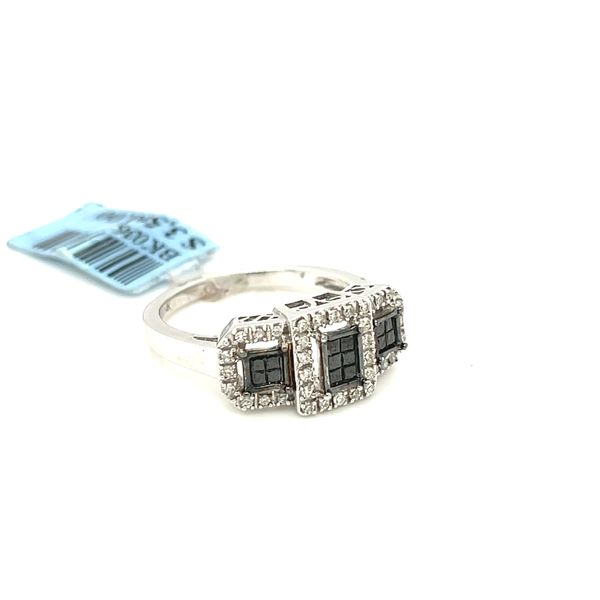 14K White Gold 0.50ct Diamond Ring with Black Diamonds Si2 G Image 3 Kingsmark Jewelers Jacksonville, FL