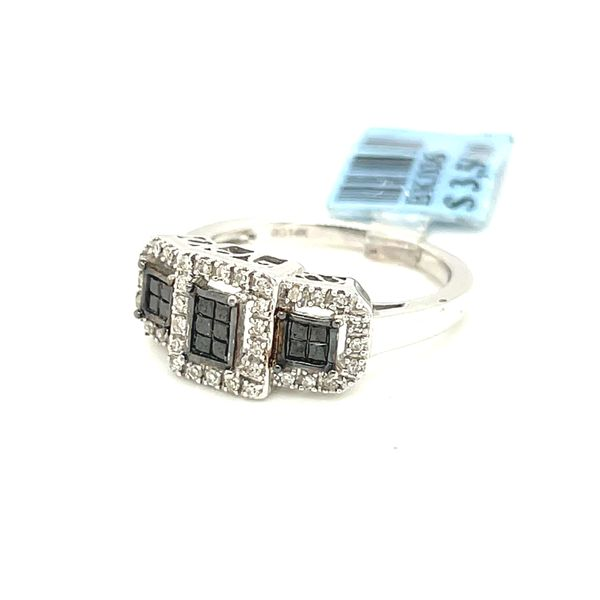 14K White Gold 0.50ct Diamond Ring with Black Diamonds Si2 G Image 4 Kingsmark Jewelers Jacksonville, FL