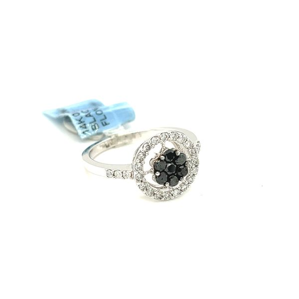 14K White Gold 0.65ct Diamond Ring with Black Diamonds Si1, G Image 2 Kingsmark Jewelers Jacksonville, FL