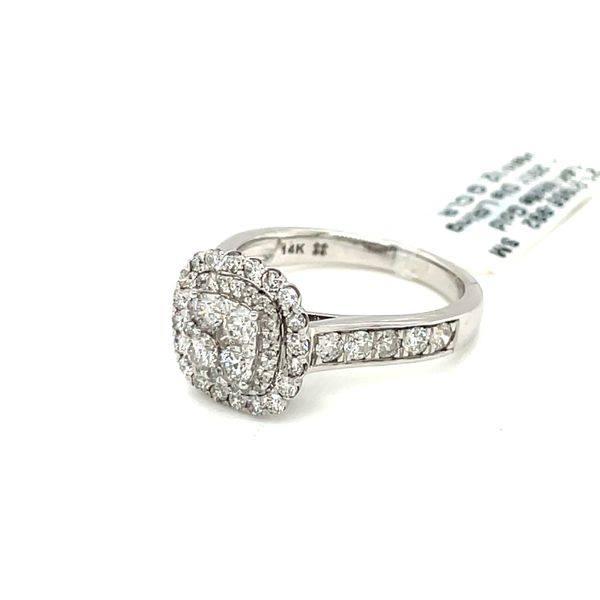 14K White Gold 1.25ct Diamond Ring Halo SI2, G Image 2 Kingsmark Jewelers Jacksonville, FL