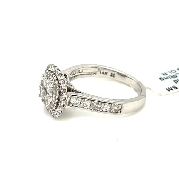 14K White Gold 1.25ct Diamond Ring Halo SI2, G Image 4 Kingsmark Jewelers Jacksonville, FL