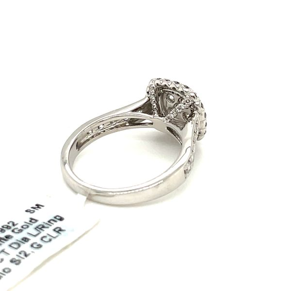 14K White Gold 1.25ct Diamond Ring Halo SI2, G Image 5 Kingsmark Jewelers Jacksonville, FL
