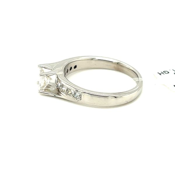 14KW Gold 1.0ct Diamond Ladies Ring Princess Cut 0.50ct CTR, Si1, GH Image 5 Kingsmark Jewelers Jacksonville, FL
