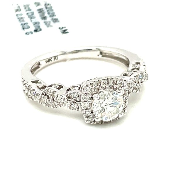 14K White Gold 1.00ct Diamond Ring CTR 0.50ct SI2, G Image 2 Kingsmark Jewelers Jacksonville, FL