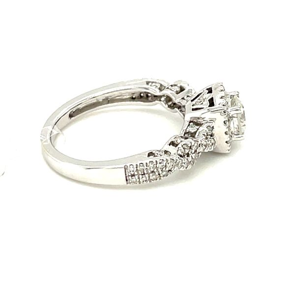 14K White Gold 1.00ct Diamond Ring CTR 0.50ct SI2, G Image 3 Kingsmark Jewelers Jacksonville, FL