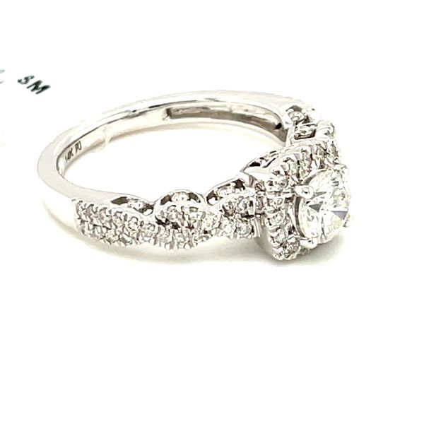 14K White Gold 1.00ct Diamond Ring CTR 0.50ct SI2, G Image 4 Kingsmark Jewelers Jacksonville, FL