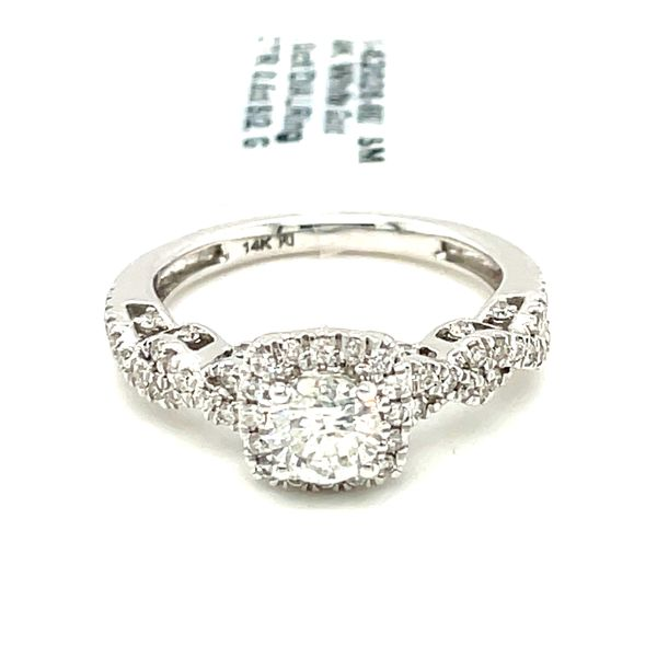 14K White Gold 1.00ct Diamond Ring CTR 0.50ct SI2, G Kingsmark Jewelers Jacksonville, FL