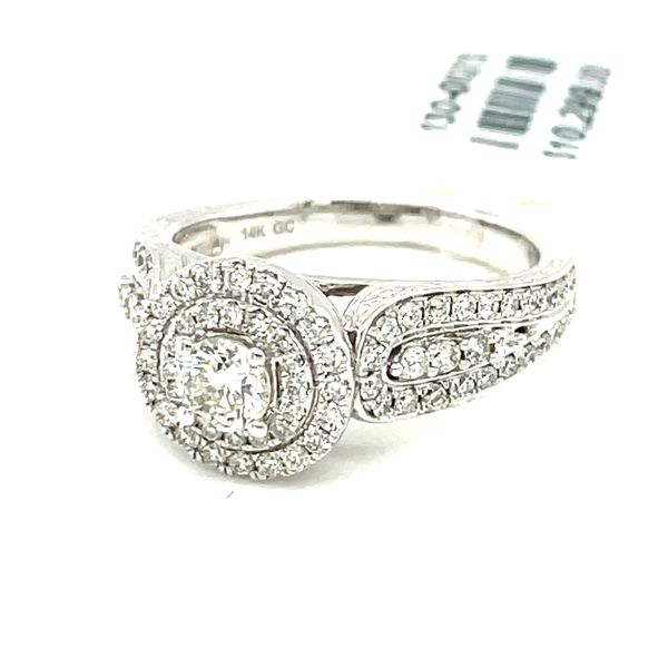 14K White Gold 1.00ct Diamond Ring CTR 0.33CT SI2, H/I Image 2 Kingsmark Jewelers Jacksonville, FL