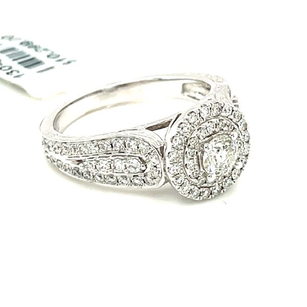 14K White Gold 1.00ct Diamond Ring CTR 0.33CT SI2, H/I Image 3 Kingsmark Jewelers Jacksonville, FL