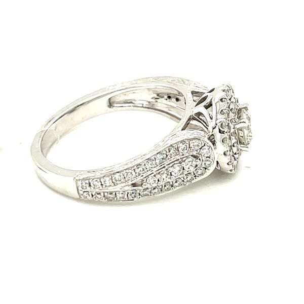 14K White Gold 1.00ct Diamond Ring CTR 0.33CT SI2, H/I Image 4 Kingsmark Jewelers Jacksonville, FL