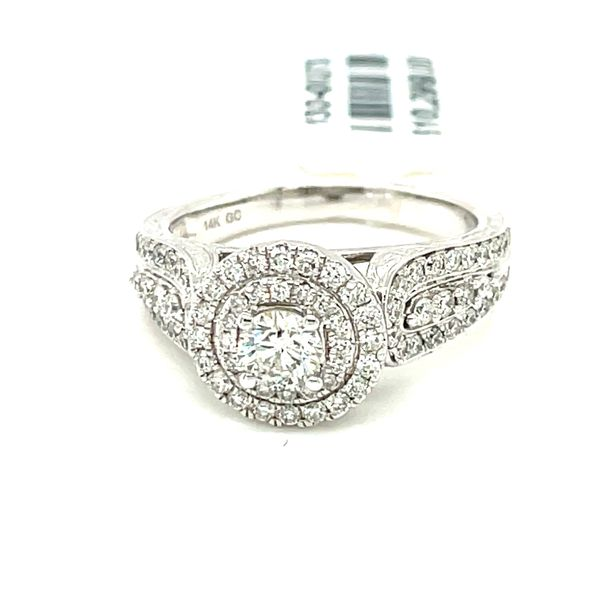 14K White Gold 1.00ct Diamond Ring CTR 0.33CT SI2, H/I Kingsmark Jewelers Jacksonville, FL