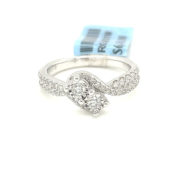 14K White Gold 0.50ct Diamond Two Stone Ladies Ring Si G Image 2 Kingsmark Jewelers Jacksonville, FL