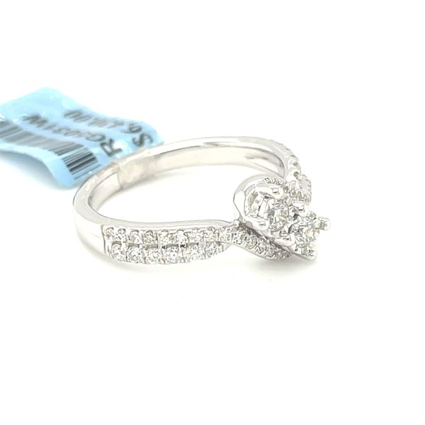 14K White Gold 0.50ct Diamond Two Stone Ladies Ring Si G Image 4 Kingsmark Jewelers Jacksonville, FL