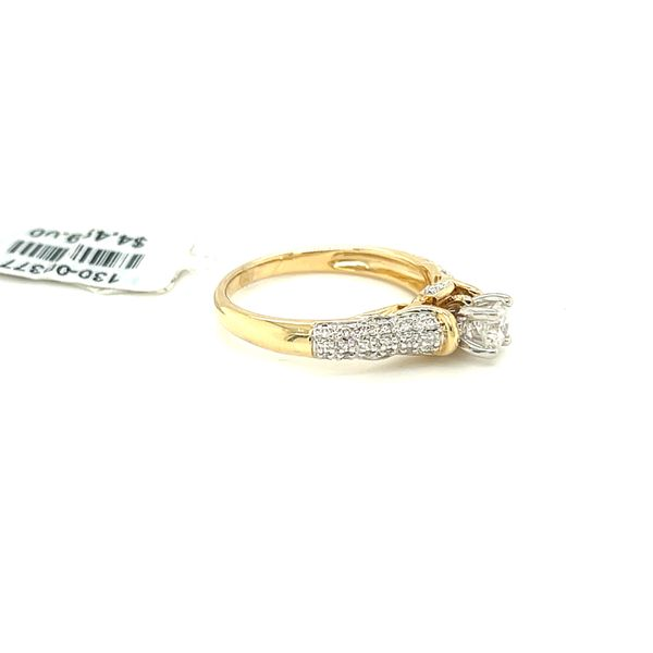 14KY Gold 0.50ct Diamond Ladies Ring, 0.25ct CTR, I1, H Image 3 Kingsmark Jewelers Jacksonville, FL