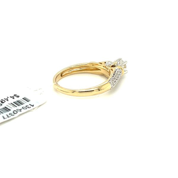 14KY Gold 0.50ct Diamond Ladies Ring, 0.25ct CTR, I1, H Image 4 Kingsmark Jewelers Jacksonville, FL