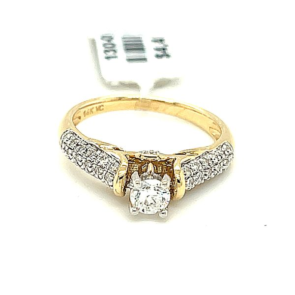 14KY Gold 0.50ct Diamond Ladies Ring, 0.25ct CTR, I1, H Kingsmark Jewelers Jacksonville, FL
