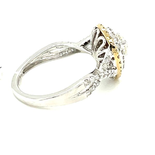 10K W+Y Gold 1.00ct DIA Ring 0.50ct CTR Si 1, G Image 3 Kingsmark Jewelers Jacksonville, FL