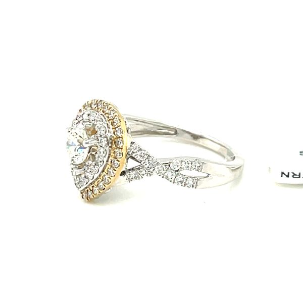 10K W+Y Gold 1.00ct DIA Ring 0.50ct CTR Si 1, G Image 4 Kingsmark Jewelers Jacksonville, FL