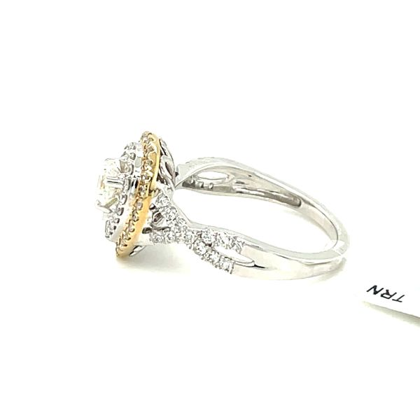 10K W+Y Gold 1.00ct DIA Ring 0.50ct CTR Si 1, G Image 5 Kingsmark Jewelers Jacksonville, FL