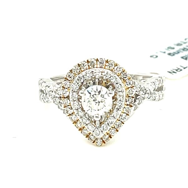 10K W+Y Gold 1.00ct DIA Ring 0.50ct CTR Si 1, G Kingsmark Jewelers Jacksonville, FL