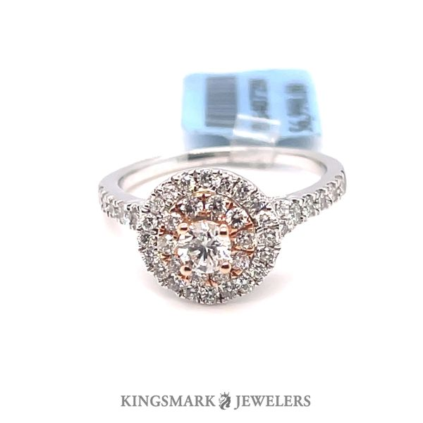 14K W+R Gold 1.00ct Diamond Halo Ring Si1, G (CTR 0.25ct) Kingsmark Jewelers Jacksonville, FL